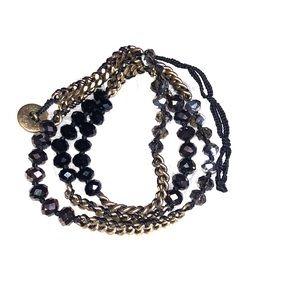 Chloe + Isabel bead + chain multi wrap bracelet